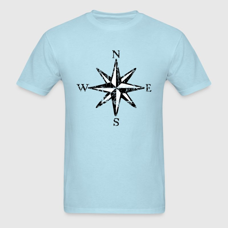 Compass Rose T-Shirt Vintage (Men) bicolor - Men's T-Shirt