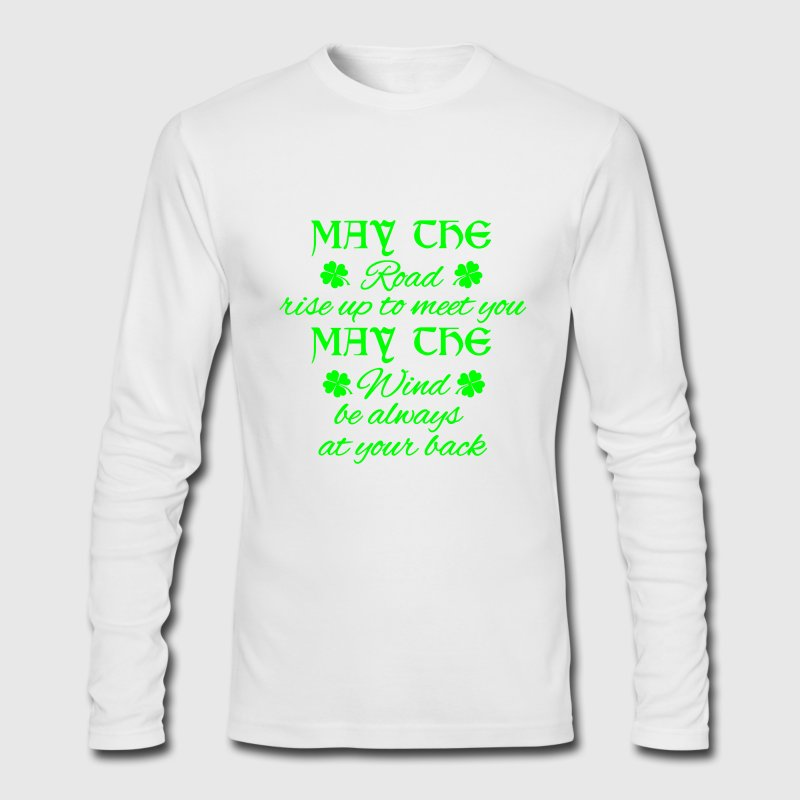 May the road rise up to meet you - Irish - Men's Long Sleeve T-Shirt by Next Level