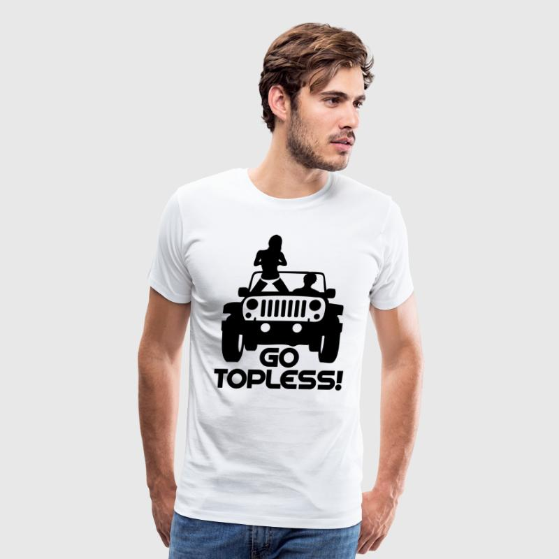 A0240 JEEP GO TOPLESS JK T-Shirts - Men's Premium T-Shirt