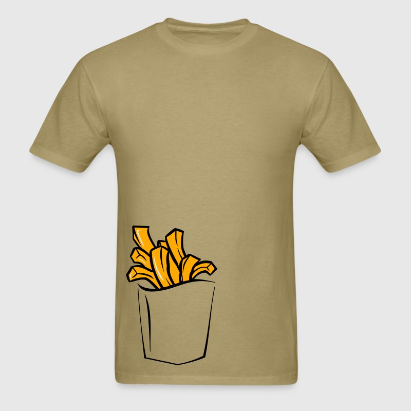 FRENCH FRIES POCKET MEN T SHIRT - Men's T-Shirt