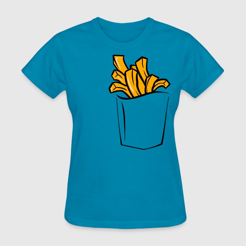 FRENCH FRIES POCKET WOMEN T SHIRT - Women's T-Shirt