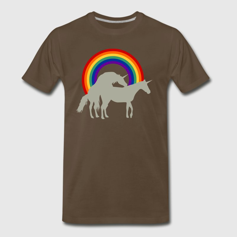 Unicorn Under the Rainbow Shirt - Men's Premium T-Shirt