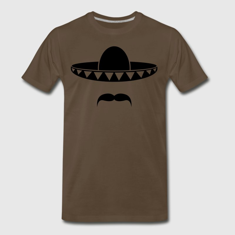 Sombrero with a beard from Mexico Shirt - Men's Premium T-Shirt
