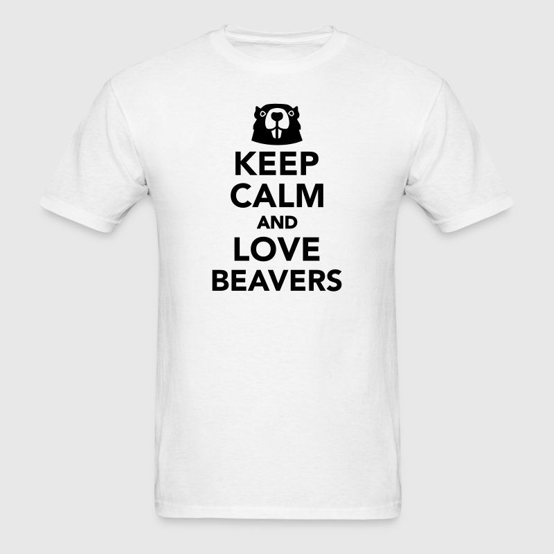 Keep calm and love beavers T-Shirts - Men's T-Shirt