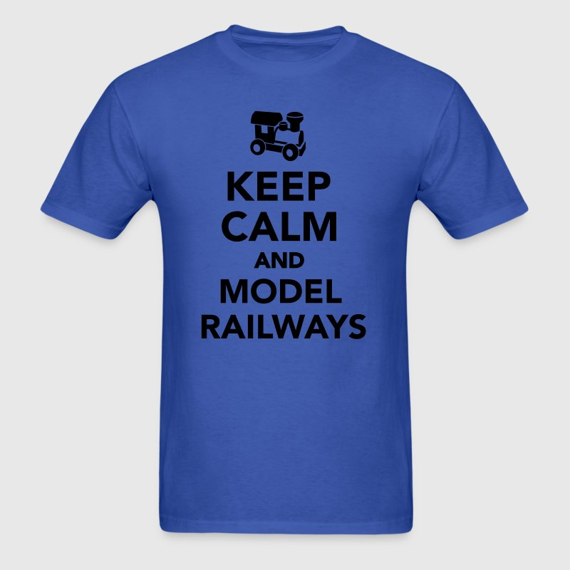 Keep calm and model railways T-Shirts - Men's T-Shirt