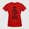 Keep calm and love cows Women's T-Shirts - Women's T-Shirt