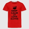 Keep calm and love Sloths Kids' Shirts - Kids' Premium T-Shirt