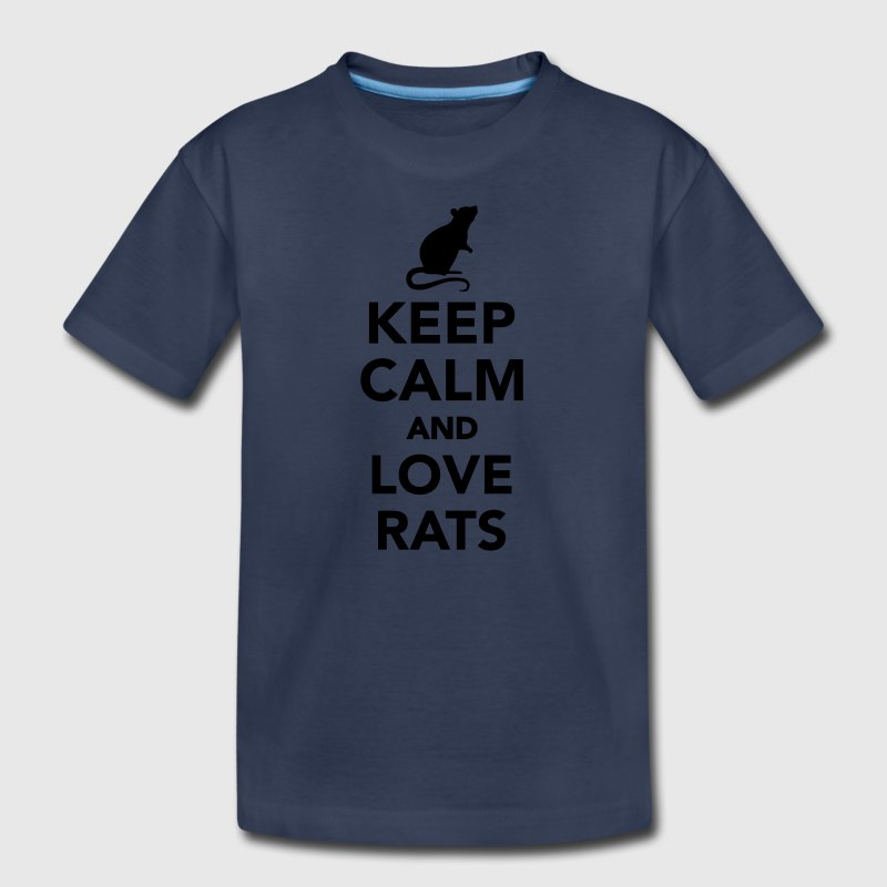 Keep calm and love Rats Kids' Shirts - Kids' Premium T-Shirt