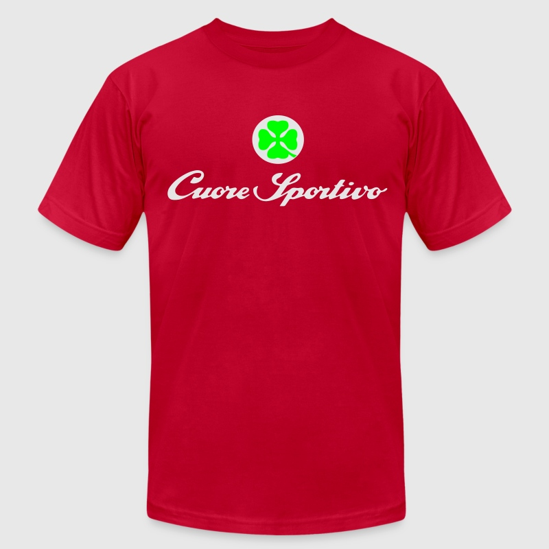 cuore sportivo T-Shirts - Men's T-Shirt by American Apparel