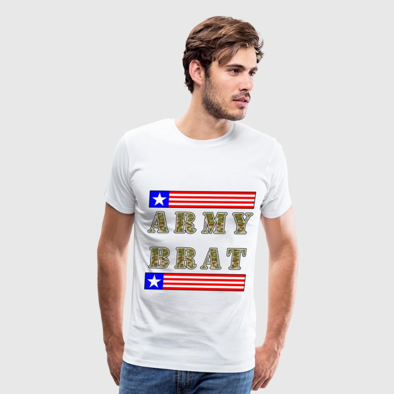 Army Brat - Blue Text. - Men's Premium T-Shirt