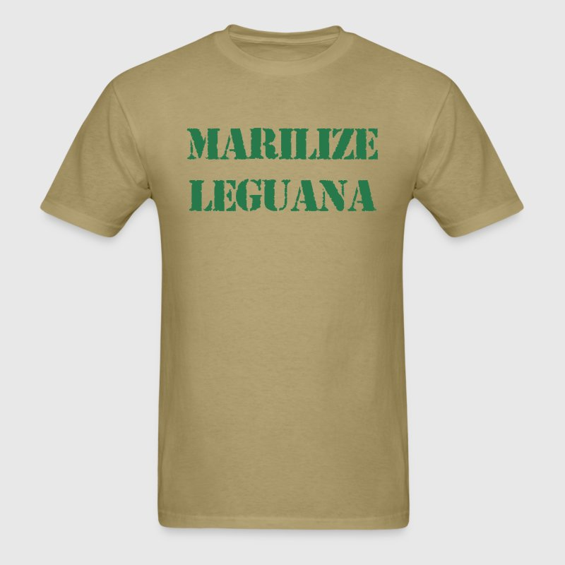 Marilize Leguana Legalize Marijuana T-Shirts - Men's T-Shirt