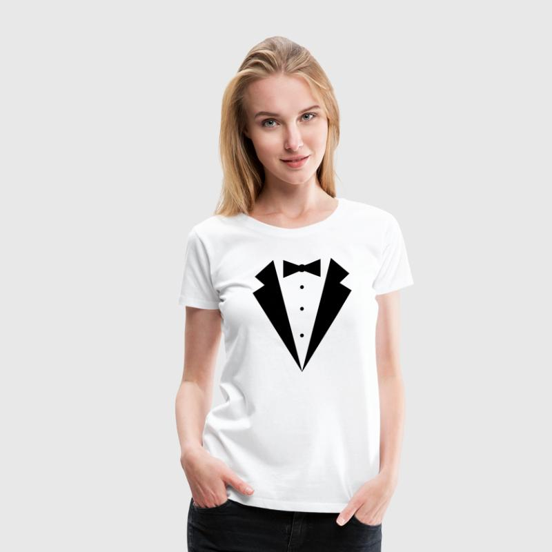 TUXEDO SHIRT, wedding, bachelor, bachelorette, smo - Women's Premium T-Shirt