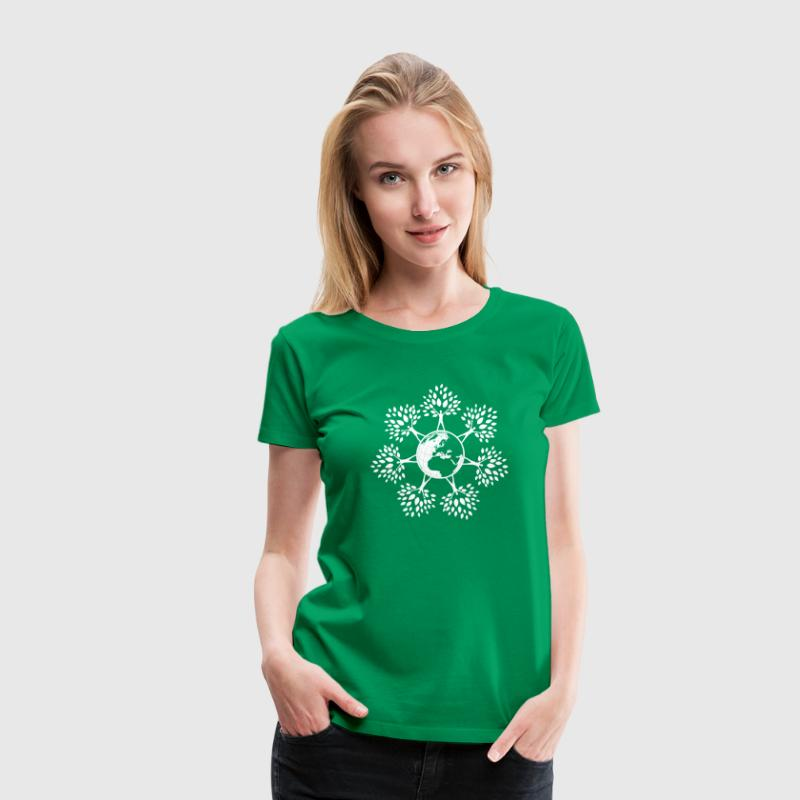 Earth Day Tree People (w Women's T-Shirts - Women's Premium T-Shirt