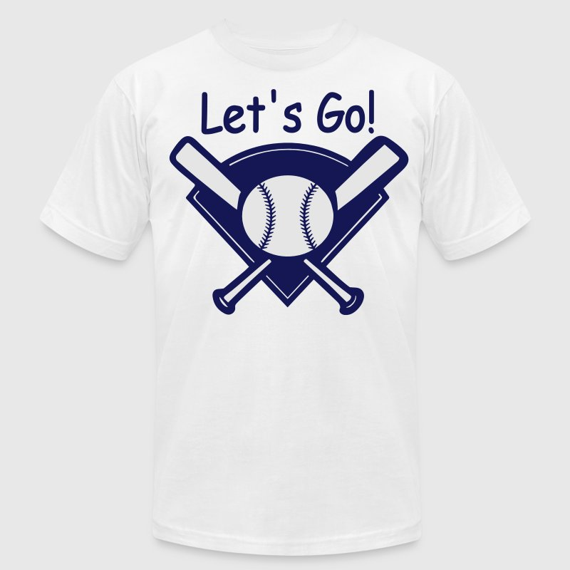 Let's Go Baseball - Men's Fine Jersey T-Shirt