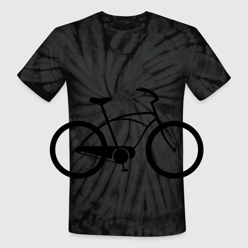 BICYCLE ROTATE MEN TIE DYE T SHIRT - Unisex Tie Dye T-Shirt
