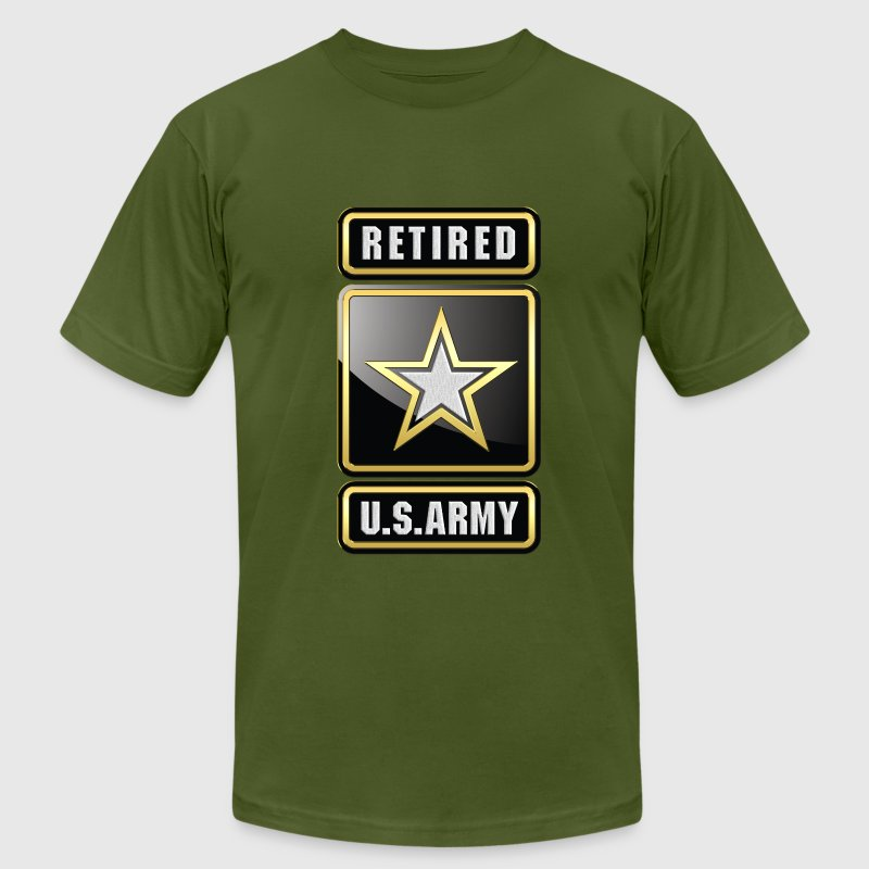 U.S.  Army Retired Logo 3D - Men's T-Shirt by American Apparel