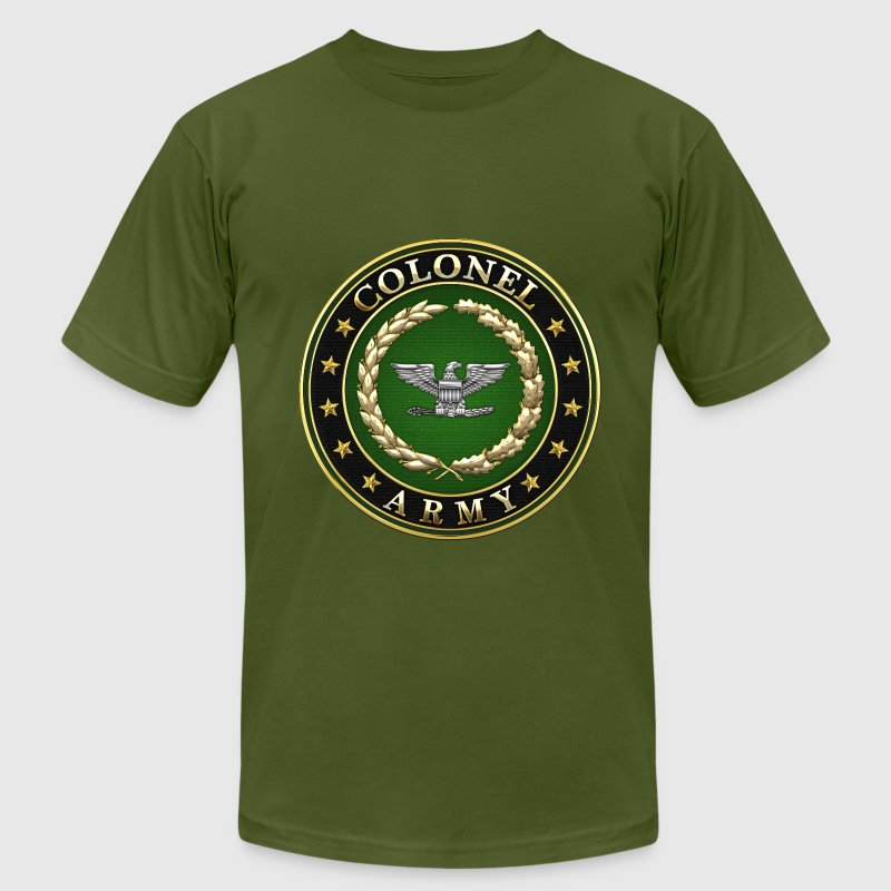 Army Colonel (COL) Rank Insignia 3D - Men's T-Shirt by American Apparel