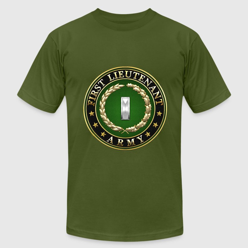 First Lieutenant (1LT) Rank Insignia 3D  - Men's T-Shirt by American Apparel