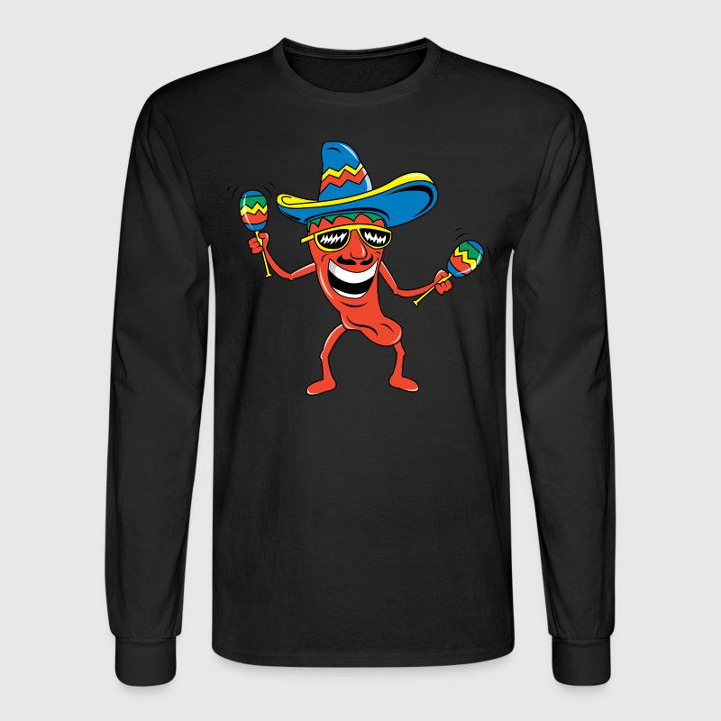 Mexican Chili Pepper - Men's Long Sleeve T-Shirt