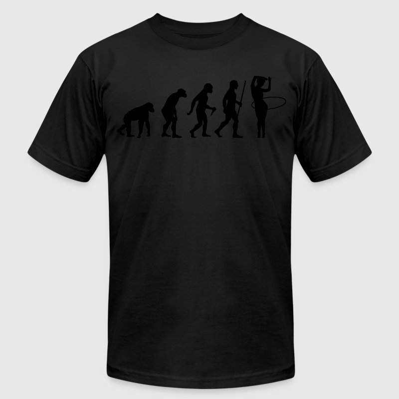 Evolution Hula Hoop T-Shirts - Men's T-Shirt by American Apparel