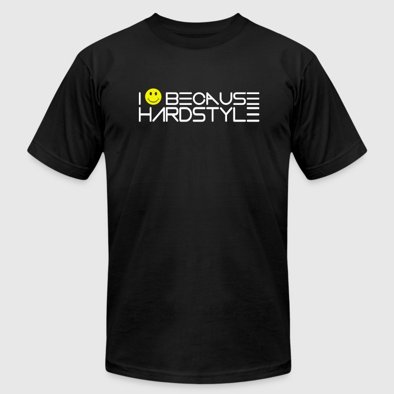 Hardstyle Smile T-Shirts - Men's T-Shirt by American Apparel