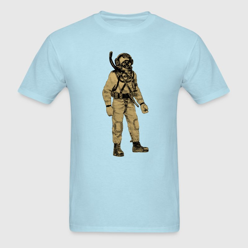 Navy Diver with Mark V Diving Helmet and Knife - Men's T-Shirt