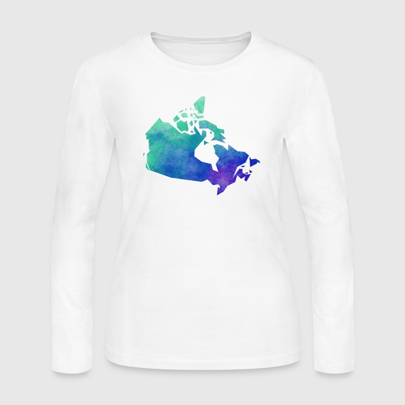 Map Canda Long Sleeve Shirts - Women's Long Sleeve Jersey T-Shirt