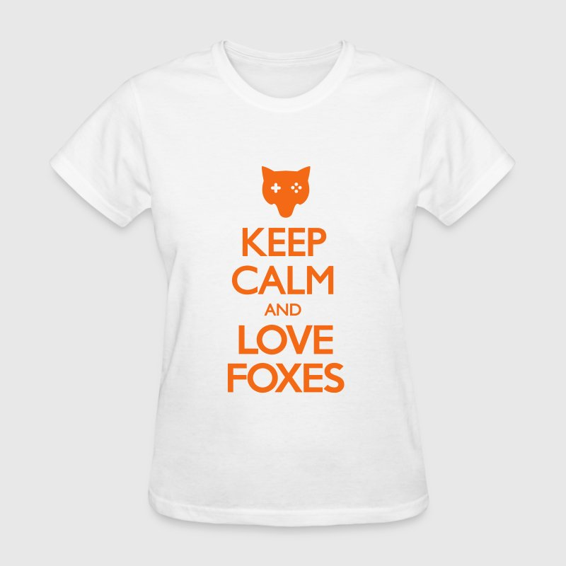 Keep Calm and Love Foxes Women's T-Shirts - Women's T-Shirt