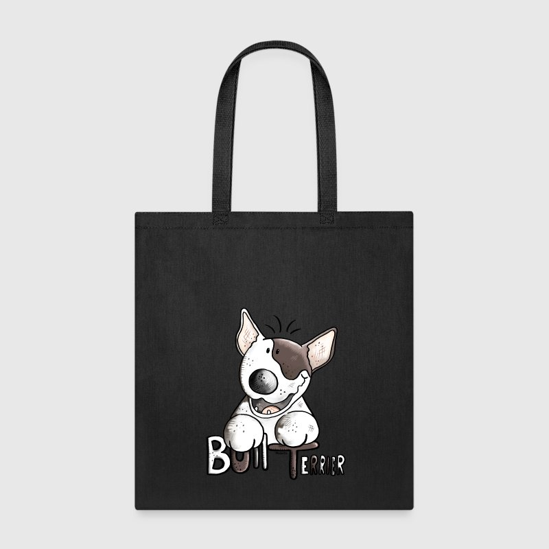 Funny Bull Terrier Bags & backpacks - Tote Bag