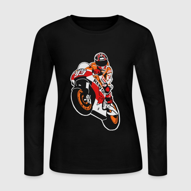 Moto-GP Racing Long Sleeve Shirts - Women's Long Sleeve Jersey T-Shirt