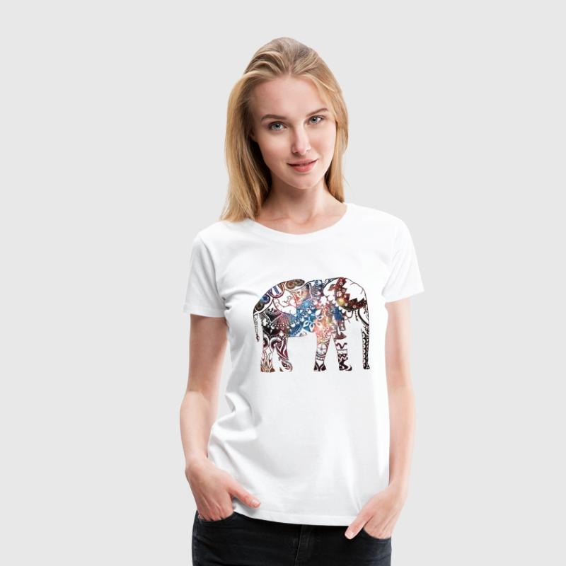 galaxy elephant - Women's Premium T-Shirt