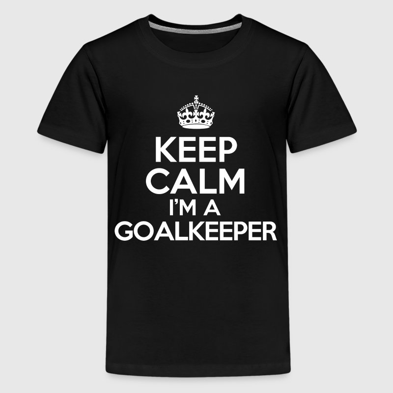 keep calm im a goalkeeper Kids' Shirts - Kids' Premium T-Shirt
