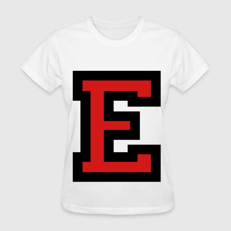 Letter E Filled Women's T-Shirts - Women's T-Shirt