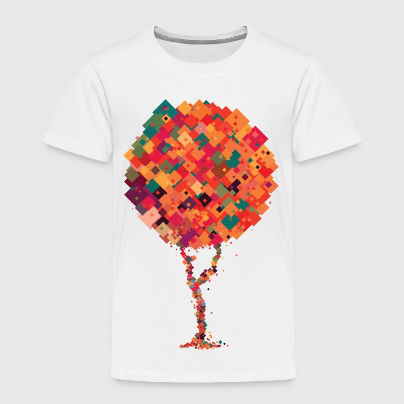 Colourful pixel tree Baby & Toddler Shirts - Toddler Premium T-Shirt