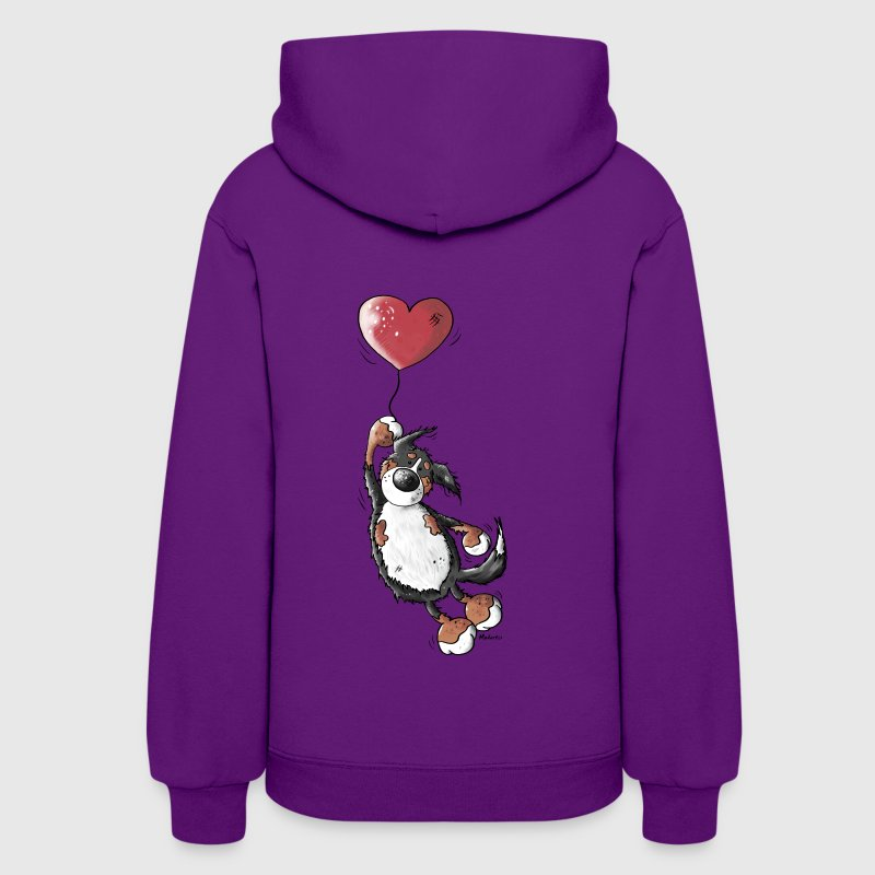 Bernese Mountain Dog With Heart Hoodies - Women's Hoodie