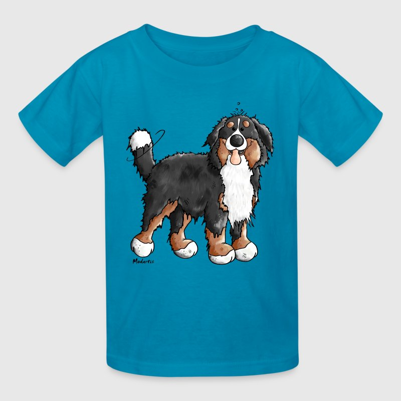 Happy Bernese Mountain Dog Kids' Shirts - Kids' T-Shirt