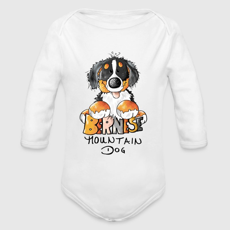 Cute Bernese Mountain Dog  Baby & Toddler Shirts - Long Sleeve Baby Bodysuit