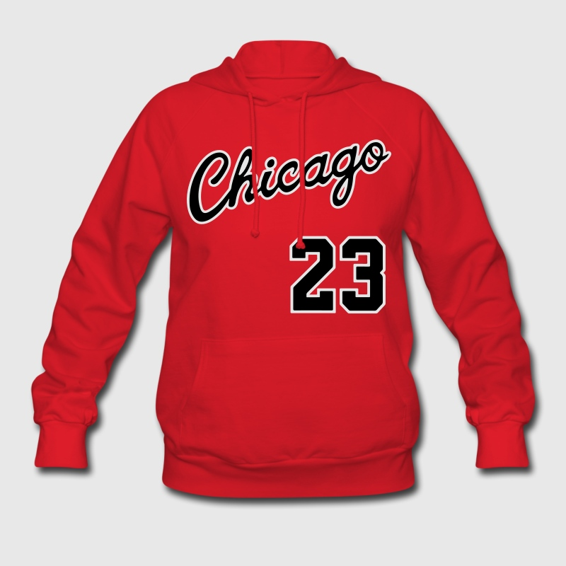 Chicago 23 Script Shirt Hoodies - Women's Hoodie