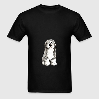Funny Bearded Collie Bags & backpacks - Men's T-Shirt