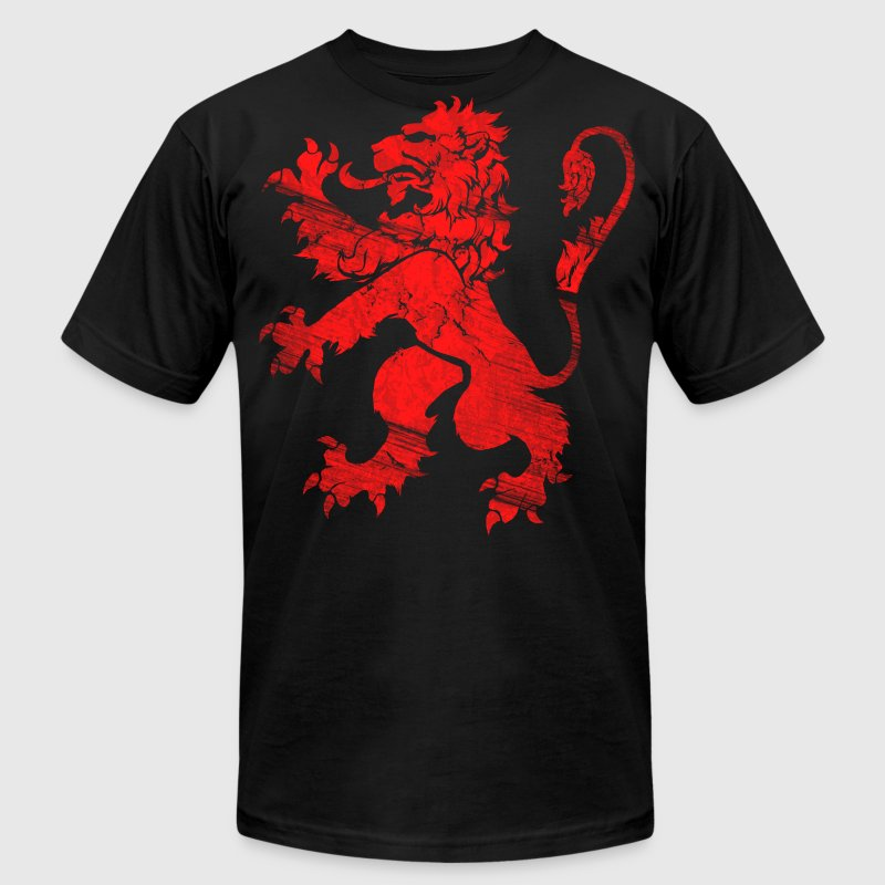 Red Lion Rampant T-Shirts - Men's Fine Jersey T-Shirt