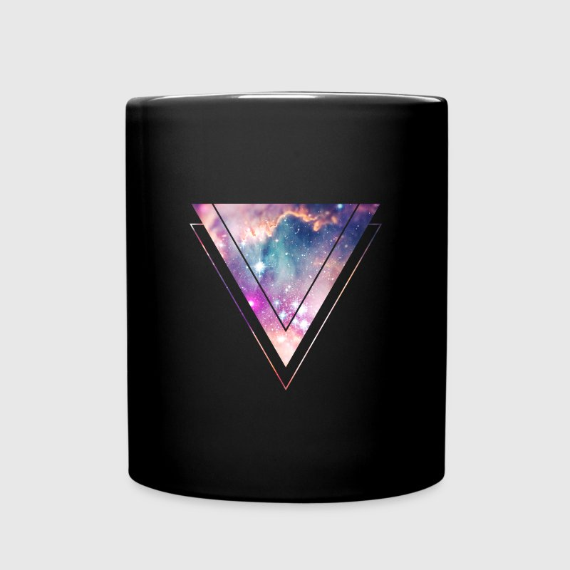 Galaxy - Space - Universe / Hipster Triangle Mugs & Drinkware - Full Color Mug