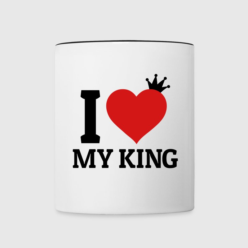 I love my King Mugs & Drinkware - Contrast Coffee Mug