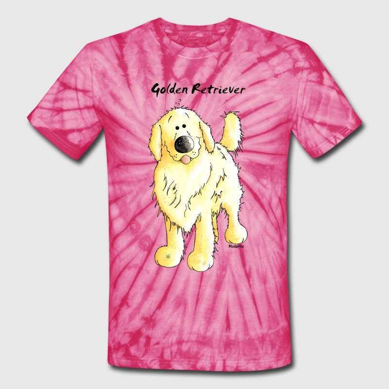 Cute Golden Retriever T-Shirts - Unisex Tie Dye T-Shirt