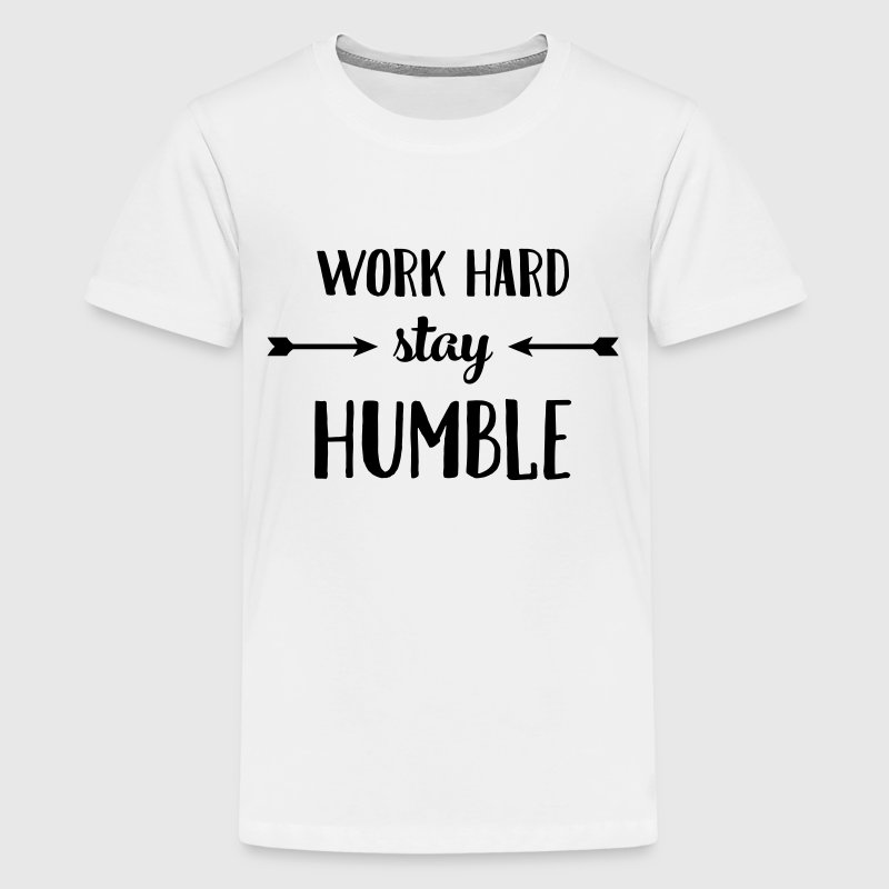 Work Hard Stay Humble Kids' Shirts - Kids' Premium T-Shirt