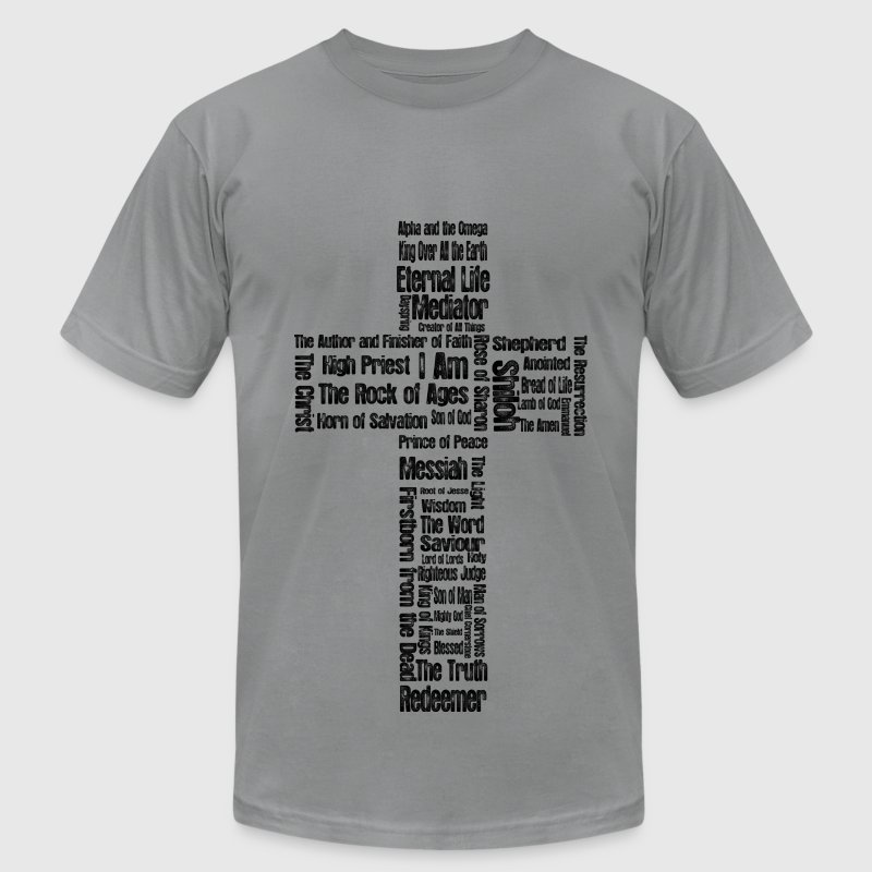 Jesus' Names (cross) - Men's T-Shirt by American Apparel