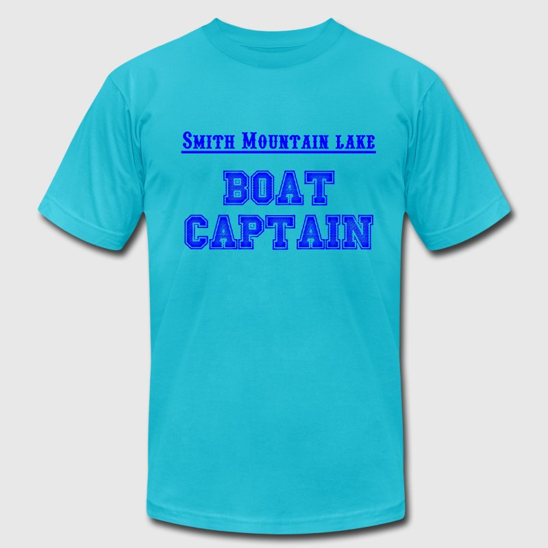 Smith Mountain Lake (SML) Virginia - Boat Captain T-Shirts - Men's T-Shirt by American Apparel