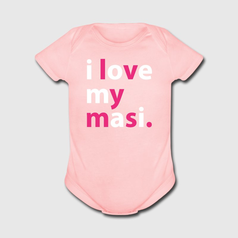 Desi Baby T-shirt - I love my masi - Short Sleeve Baby Bodysuit