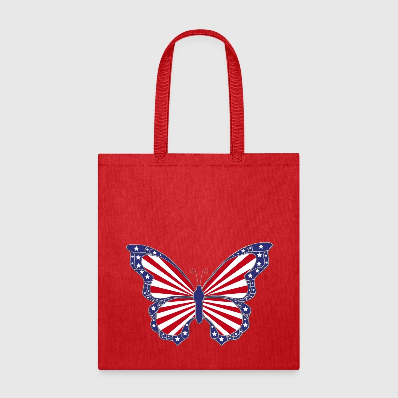 Patriotic Butterfly Tote Bag - Tote Bag
