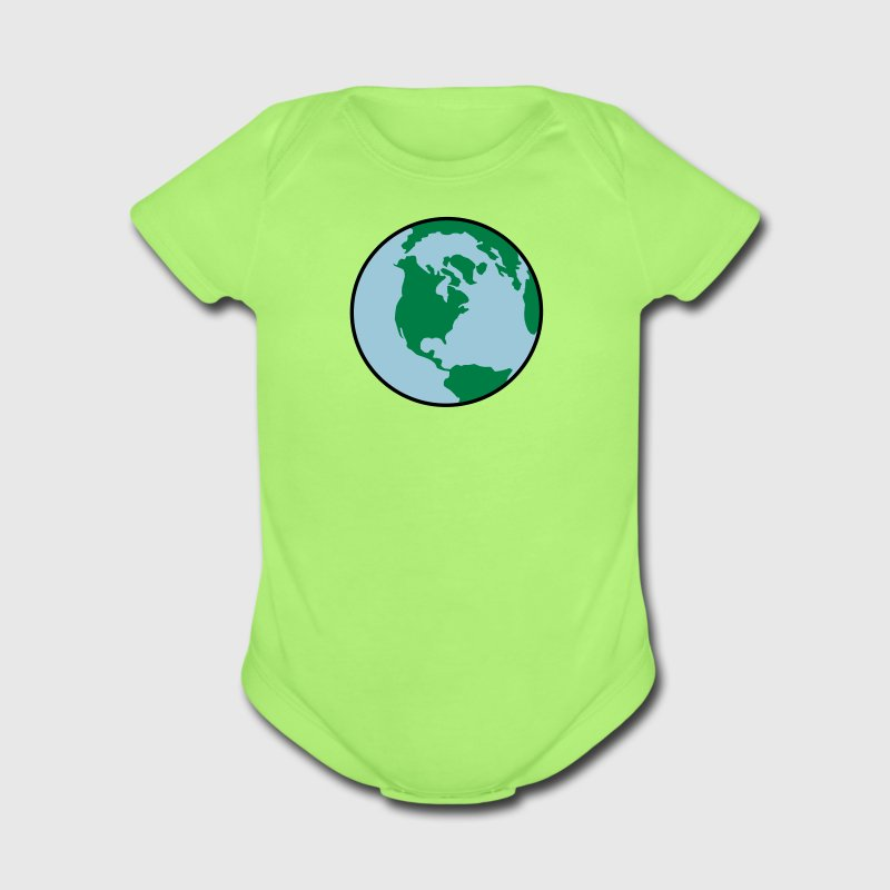 Earth Day World 3 Color Vector Baby Shirt - Short Sleeve Baby Bodysuit