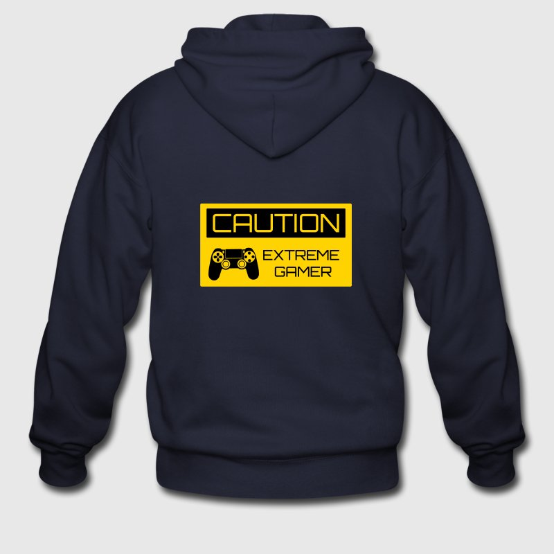 Caution Extreme Gamer Zip Hoodies & Jackets - Men's Zip Hoodie